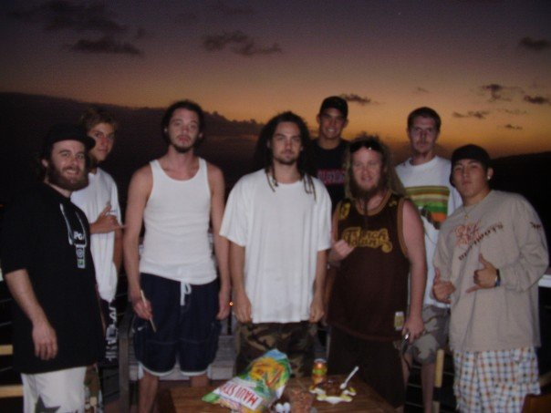 Rooftop BBQ, Hawaii Kai, 2007 (Jesse is second from left)