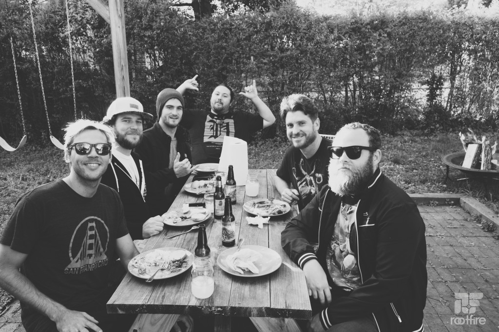 Iration enjoys a backyard BBQ from The Shebeen in Charlottesville, VA.