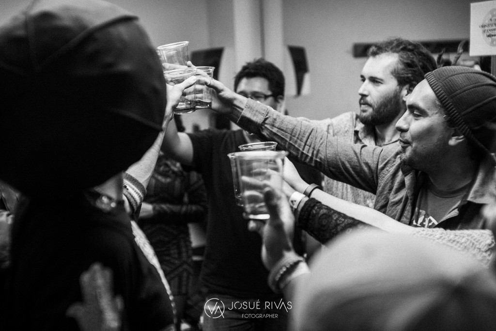 Maad T- Ray and crew toast to a great show