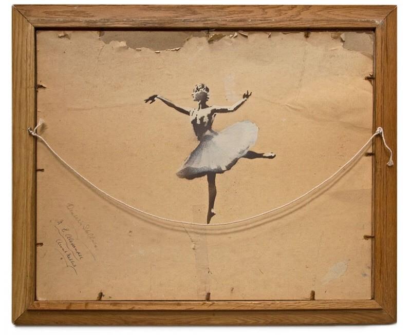 """Banksy """"Ballerina"""" (2012)"""